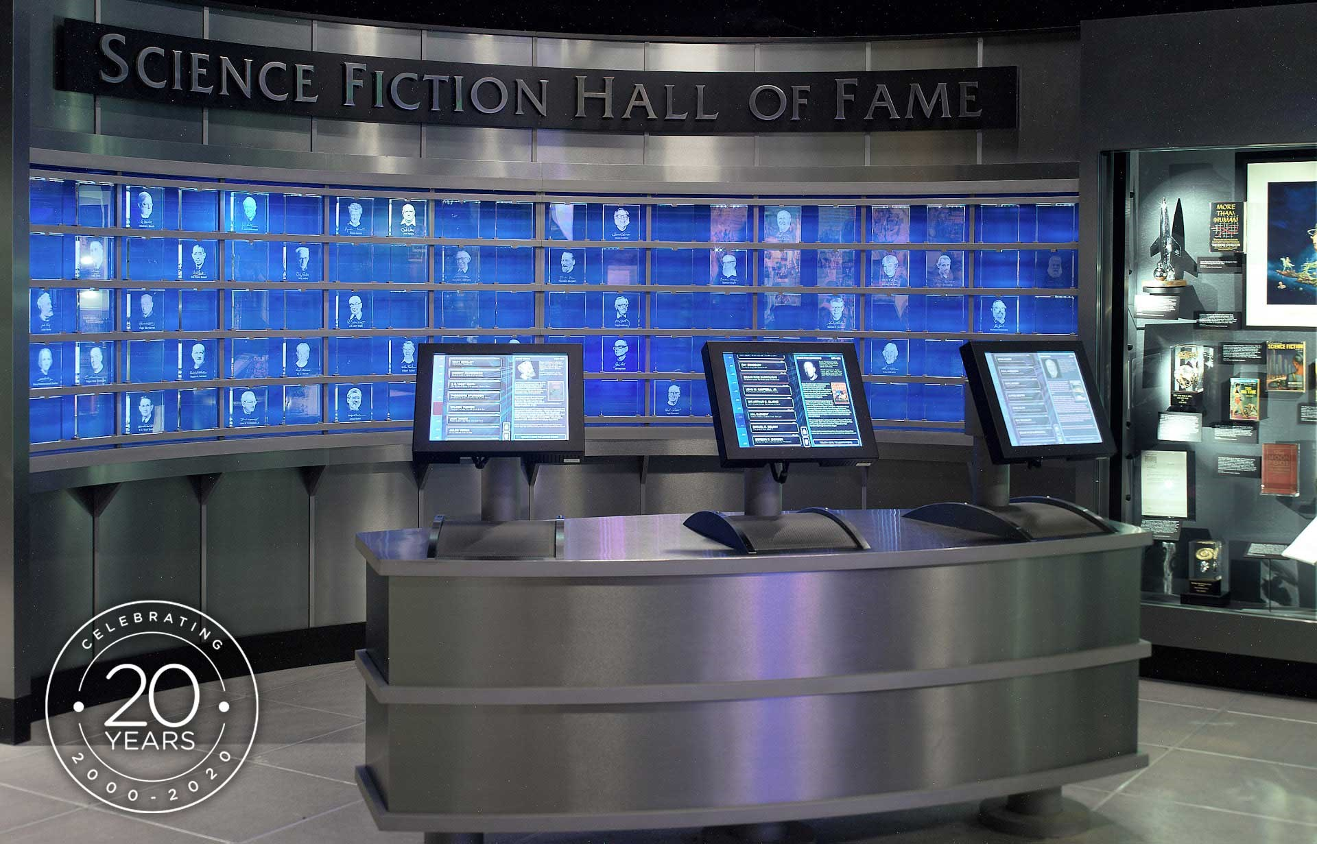interior of MoPOP's Science Fiction Hall of Fame